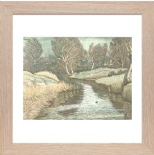 Winter Morning design 2 3 colour blocks - Ready Framed